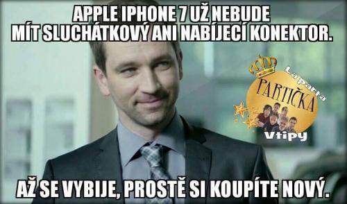 rozbitý iPhone