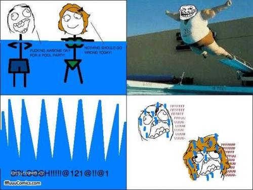 trollface swim