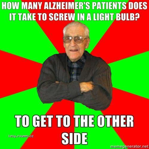 why did the alzheimer cross the road