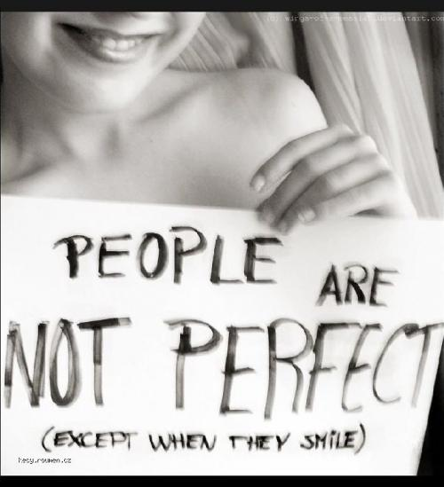 people are not perfect