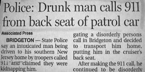 Drunk Guy Calls Cops