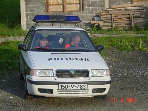 Cops hard at work