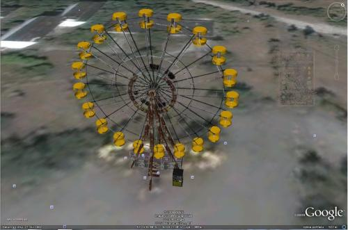 ruske koleso cernobyl 3D google earth