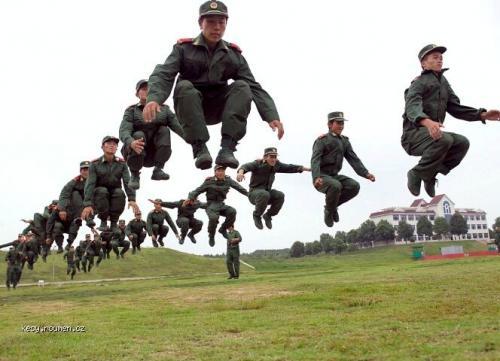 levitating army