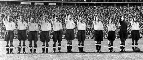 britsky narodni fotbalovy tym v Berline 1938