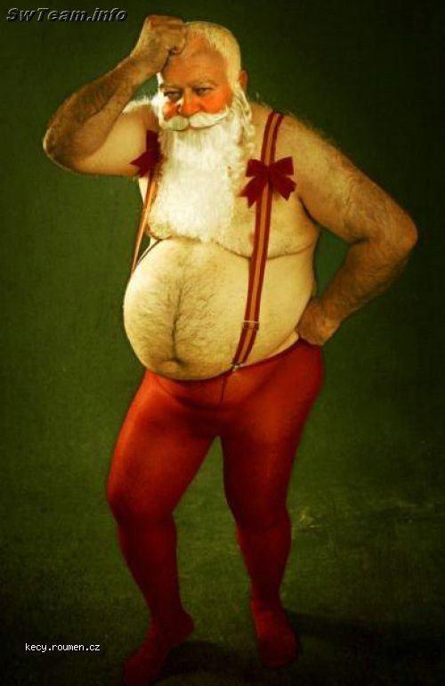 Santa se nevejde do kostymu
