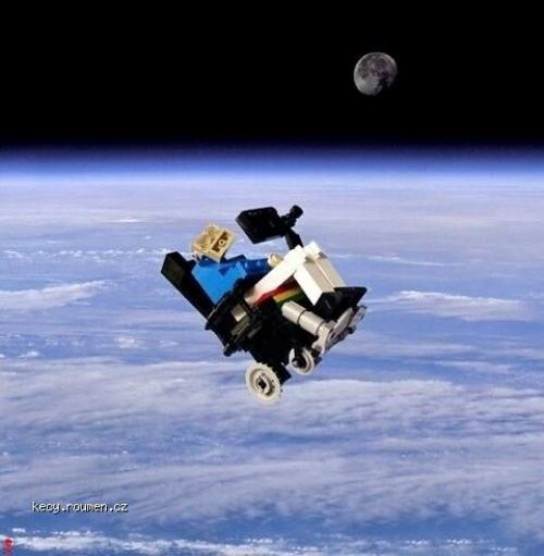 Stephen Hawking Lego space