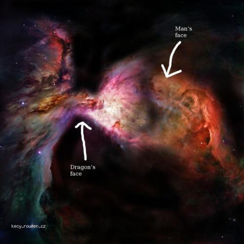 Picture of the day  Dragon battle seen in Orion Nebula