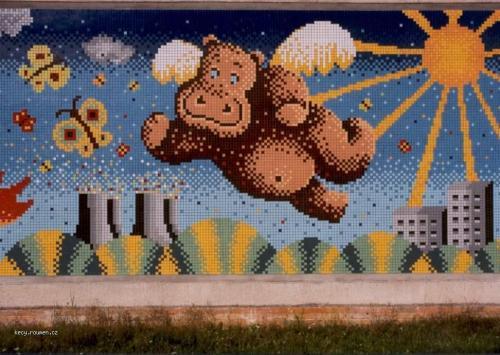 mozaika KD BechyneProc lita hroch nad Temelinem