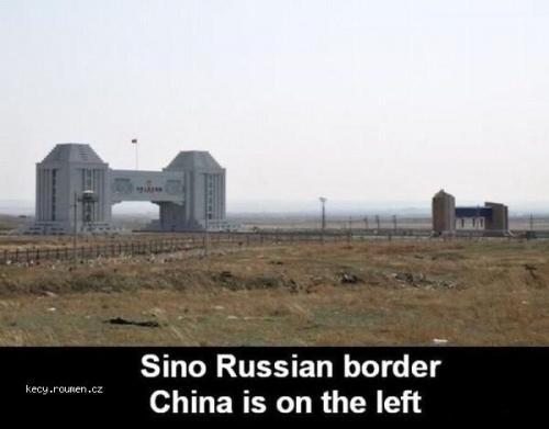 Sino Russian border