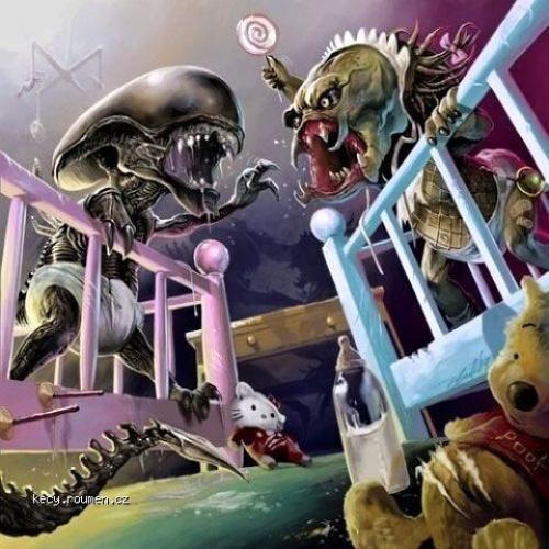 baby alien vs baby predator