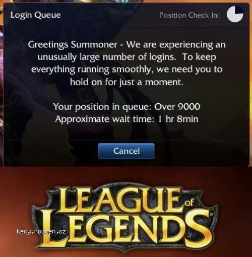 League of legends  wait time