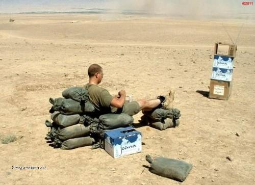 Relaxing in Afghanistan