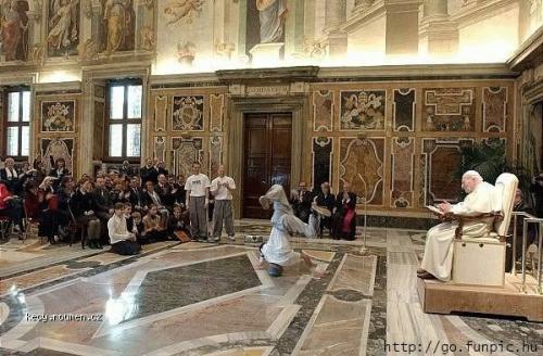 break dance pope