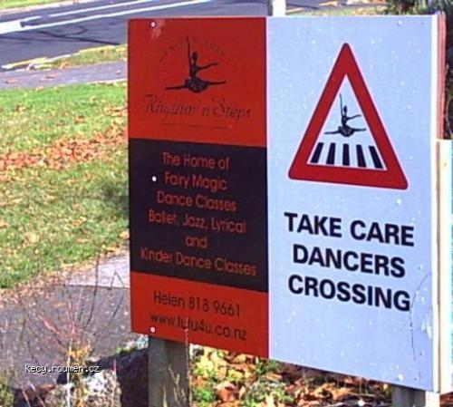 dancers crossing