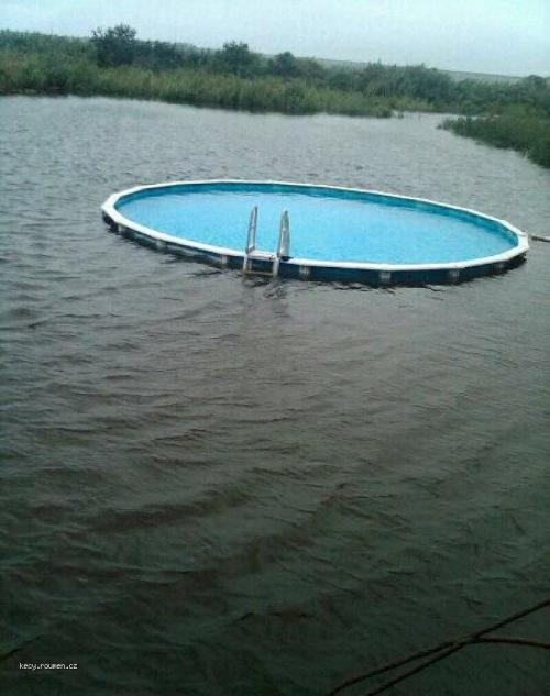 Above Ground Pool in Water