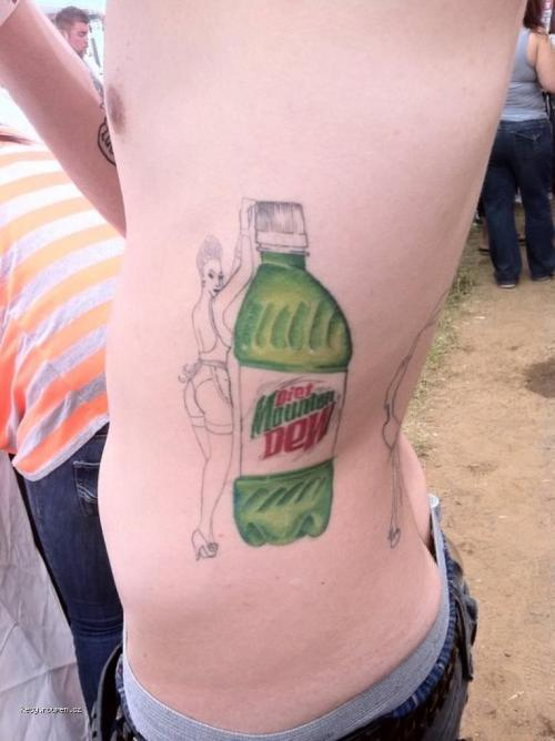 Diet Mountain Dew Pinup Girl