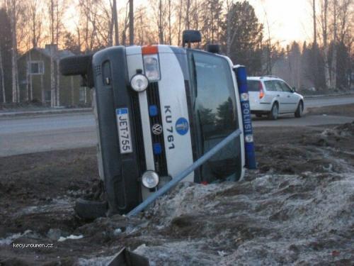 Finnish Police car crash