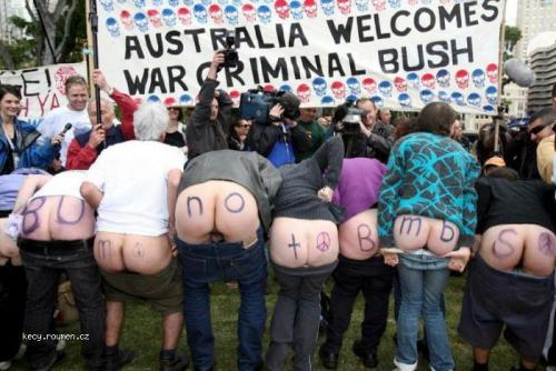 australia welcomes Bush