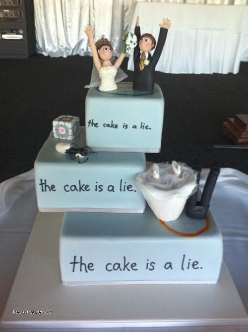 the wedding cake is a lie