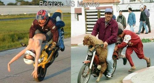 motorky belgicko vs maroko