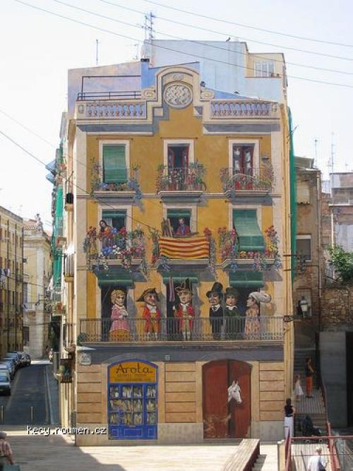decorated building