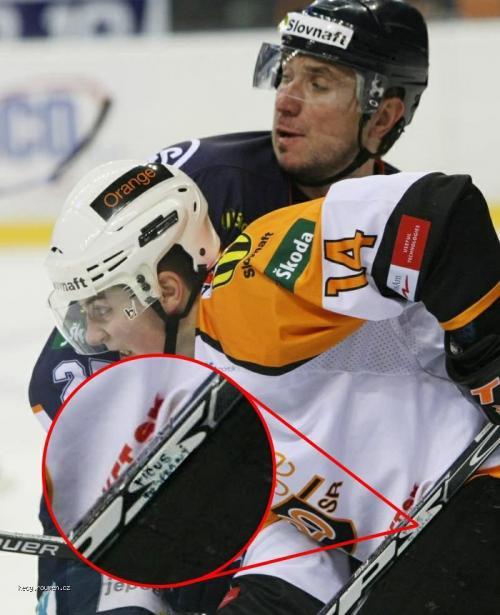 podepsana hokejka