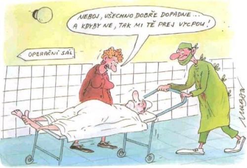 Jak uklidnit manžela před operací