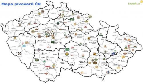 Pivni Mapa Ceske Republiky Loupak Cz
