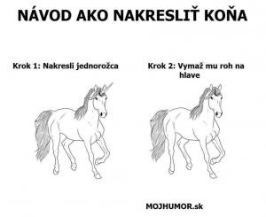 Návod, jak nakreslit koně