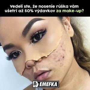 Díky rouškám ušetříš na makeupu