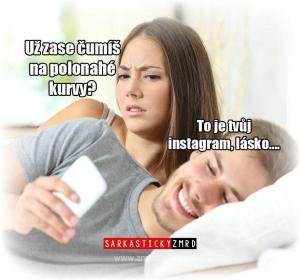 Žárlivka a instagram