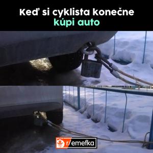 Když si cyklista koupí auto