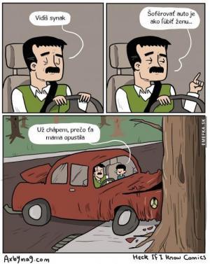 Řídit auto je jako milovat ženu