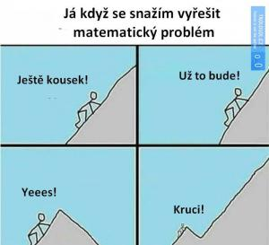 Jak to vypadá když řeším matematiku?