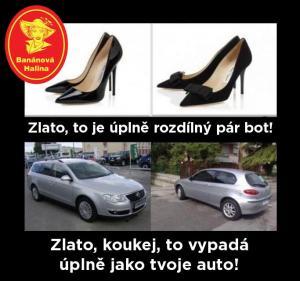 Rozdílný pár bot