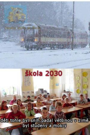 Jak to vypadalo v zimě dříve vs. dnes