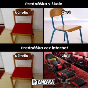 Přednáška ve škole vs. po internetu