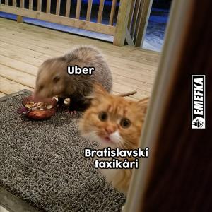 Bratislavský taxikář vs. Uber