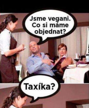 Vegani v restauraci