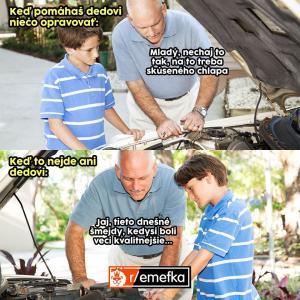 Když to neumí opravit ani tvůj děda