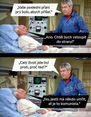 Komunista na smrtelné posteli