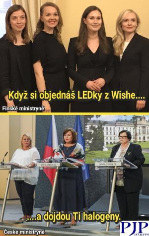Finské vs. České ministryně