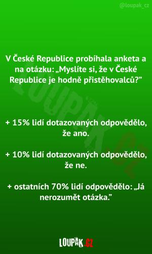 V České republice probíhala anketa