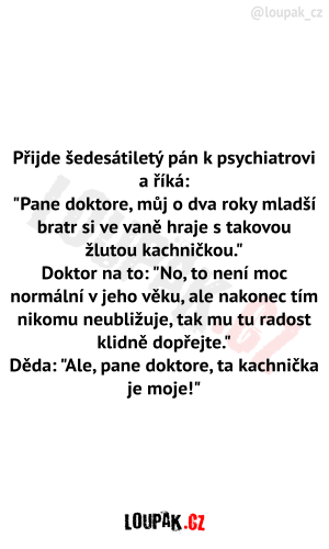 Šedesátiletý pán u psychiatra