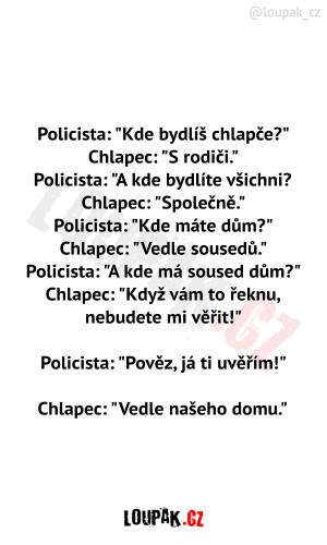 Policista a chlapeček