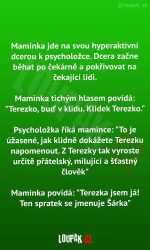 U psycholožky