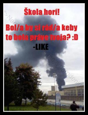 Hoří škola