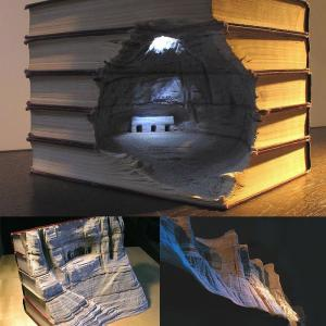 3D obraz z knížek