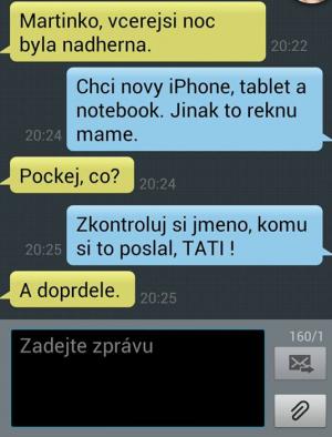 SMS - Nevěra